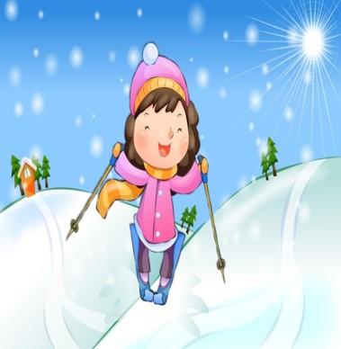 Зимние виды спорта для старшей и подготовительной группы